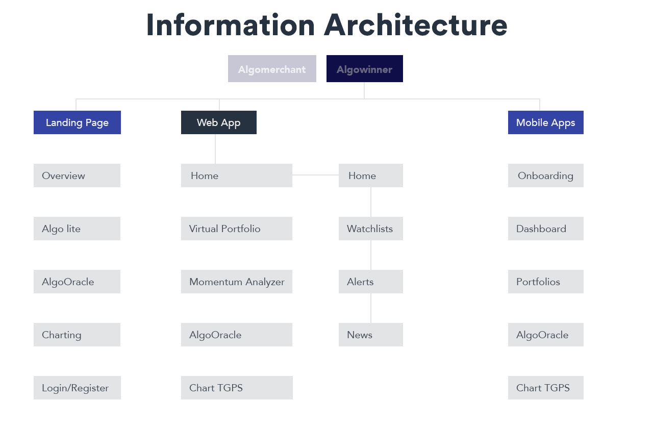 information architecture of the website